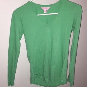 green lilly pulitzer long sleeve tee